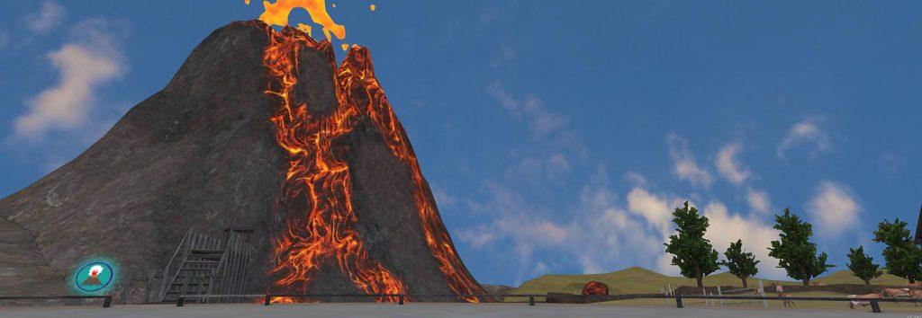 Teaching geology, volcanoes & mountains in VR
