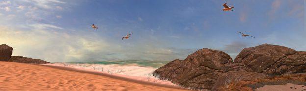Teaching coastal habitat in VR