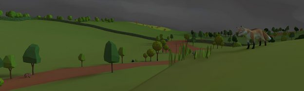 Teaching night countryside in VR