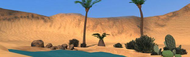 Teaching desert habitat in VR