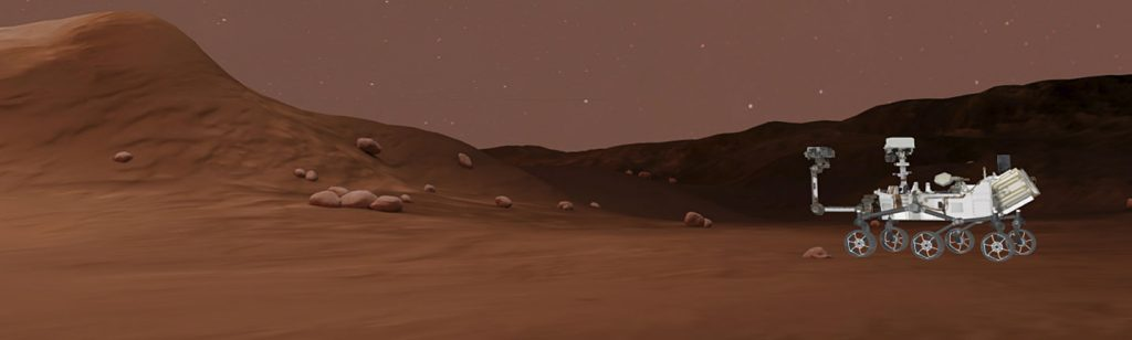 Teaching Mars planet surface rover in VR