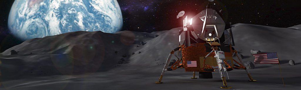 Teaching the moon landing in VR