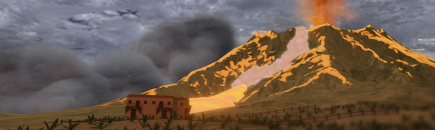 Teaching volcano eruptions in VR