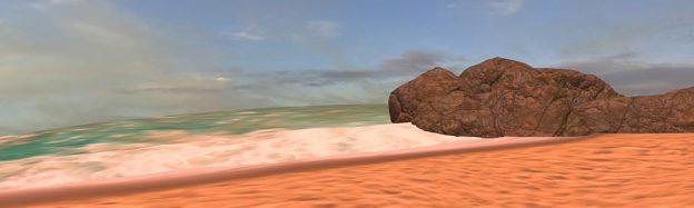 Teaching sand beaches in VR