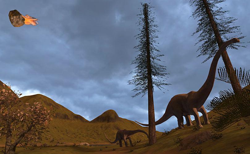 Dinosaur asteroid extinction event
