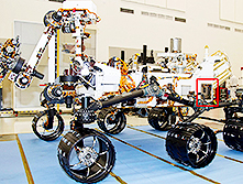 Curiosity rover for use on Mars
