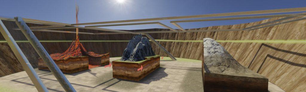 Teaching mountain creation in VR