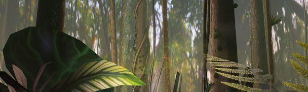 Exploring rainforest plants in VR