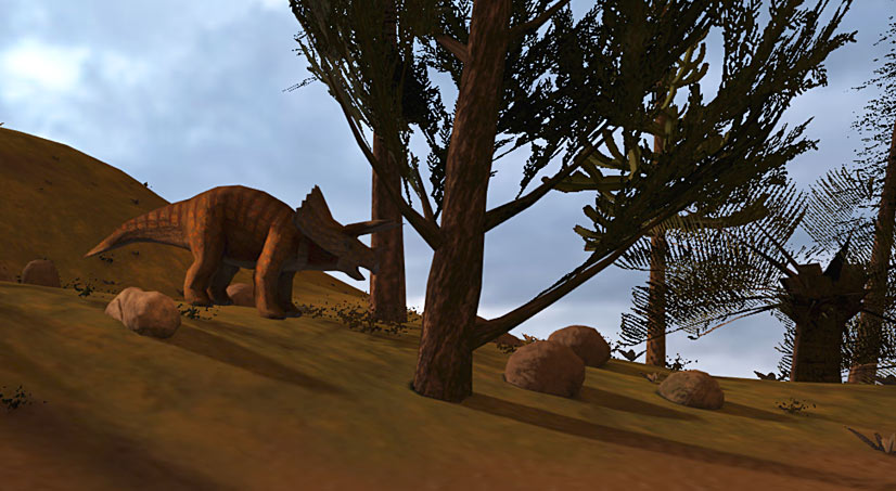 Lone Triceratops looking for food