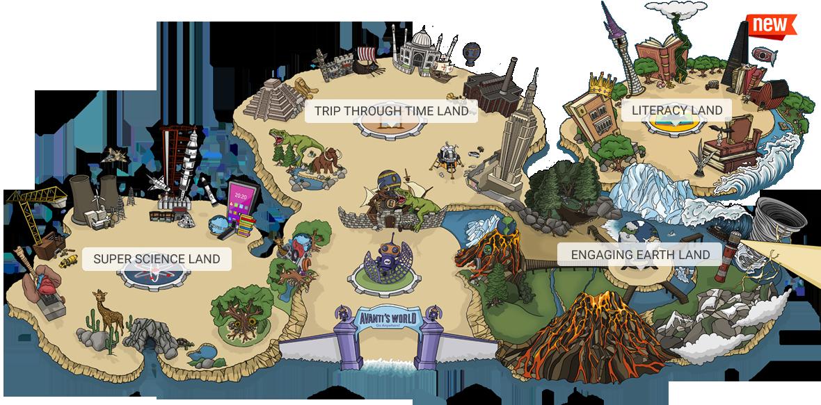 Educational Themepark Map