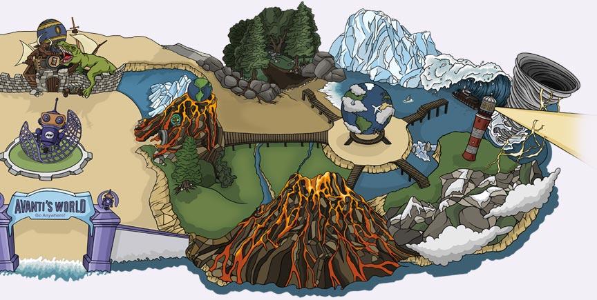 Map of Educational VR Themepark